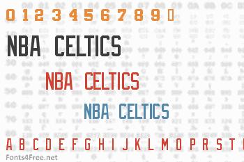 NBA Celtics Font