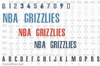 NBA Grizzlies Font