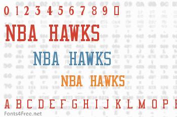 NBA Hawks Font
