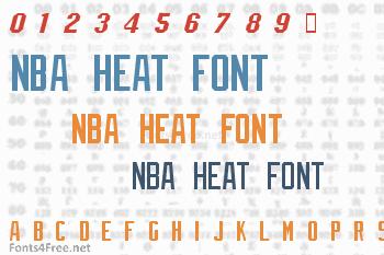 NBA Heat Font
