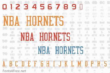 NBA Hornets Font