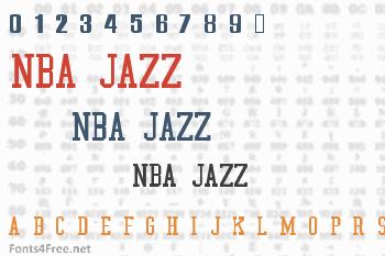 NBA Jazz Font