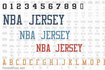 NBA Jersey Font