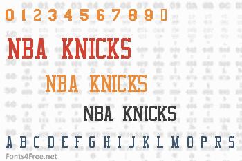 NBA Knicks Font