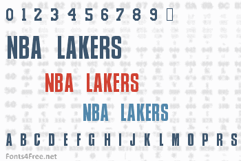 NBA Lakers Font