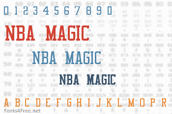 NBA Magic Font
