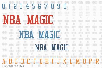 NBA Magic Font