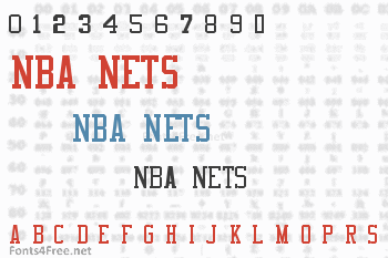 NBA Nets Font