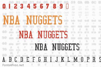 NBA Nuggets Font