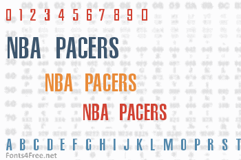 NBA Pacers Font