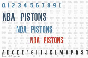 NBA Pistons Font