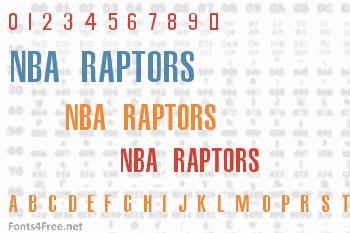 NBA Raptors Font