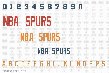 NBA Spurs Font