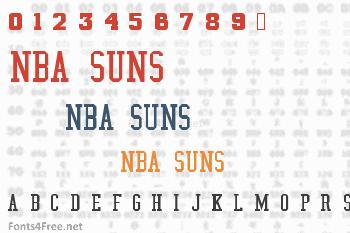 NBA Suns Font