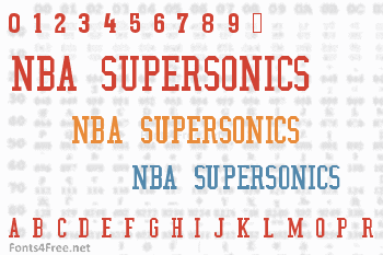 NBA SuperSonics Font