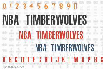 NBA Timberwolves Font