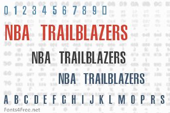 NBA Trailblazers Font