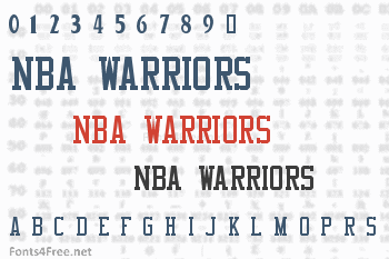 NBA Warriors Font