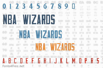 NBA Wizards Font