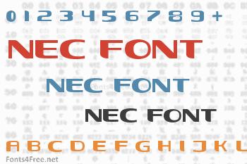 Nec Font