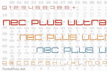 Nec Plus Ultra Font