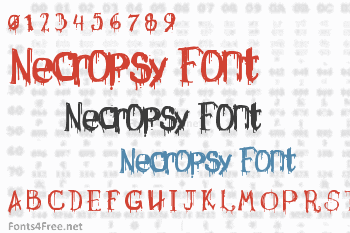 Necropsy Font