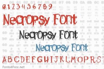 Necropsy Font