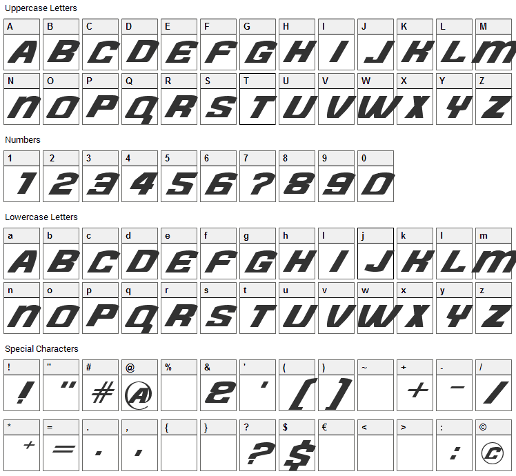 Need for Font Character Map