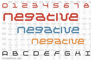 Negative Font