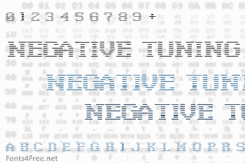 Negative Tuning Font