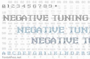 Negative Tuning Font