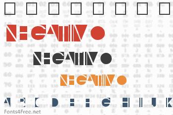 Negativo Font