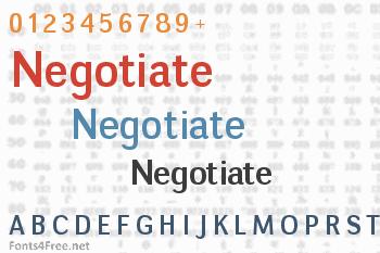 Negotiate Font