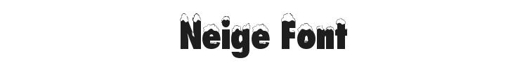 Neige Font