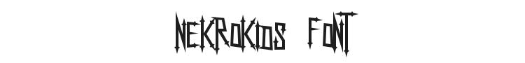 Nekrokids Font Preview