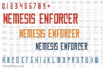 Nemesis Enforcer Font