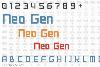 Neo Gen Font