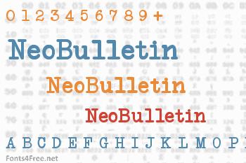 NeoBulletin Font