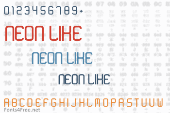 Neon Like Font