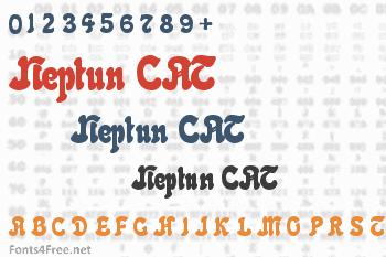 Neptun CAT Font