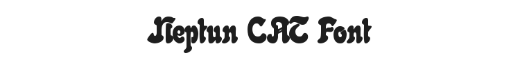 Neptun CAT Font Preview