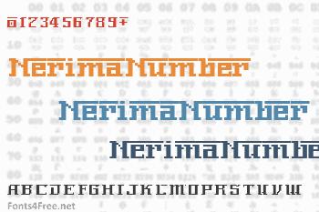 NerimaNumber Font