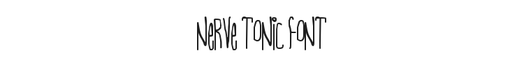 Nerve Tonic Font Preview