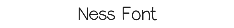 Ness Font Preview