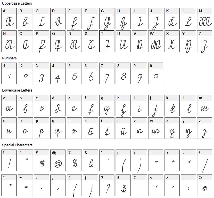 Neue Rudelskopf Font Character Map
