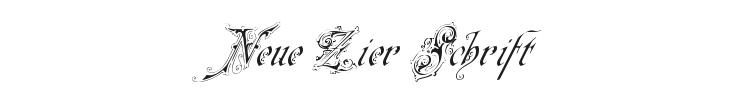 Neue Zier Schrift Font Preview