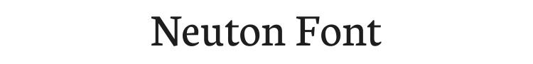Neuton Font Preview