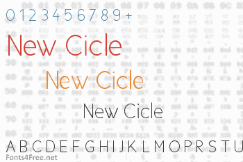 New Cicle Font