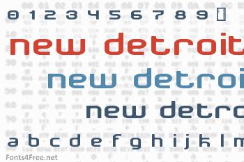 New Detroit Font