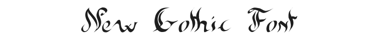 New Gothic Font Preview